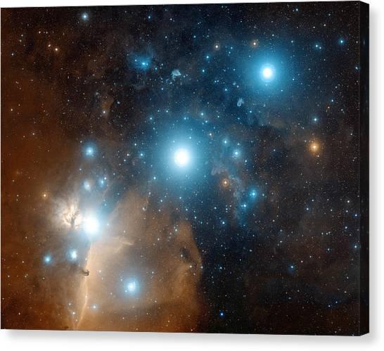 Delta Zeta Canvas Print - Orion's Belt by Davide De Martin