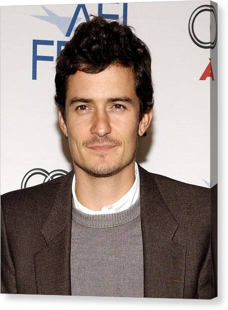 Orlando Bloom Canvas Print - Orlando Bloom At Arrivals For Afi Fest by Everett