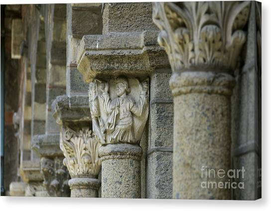 Romanesque Art Canvas Print - Ornament Of Cloister Of Puy En Velay. Haute Loire. Auvergne by Bernard Jaubert
