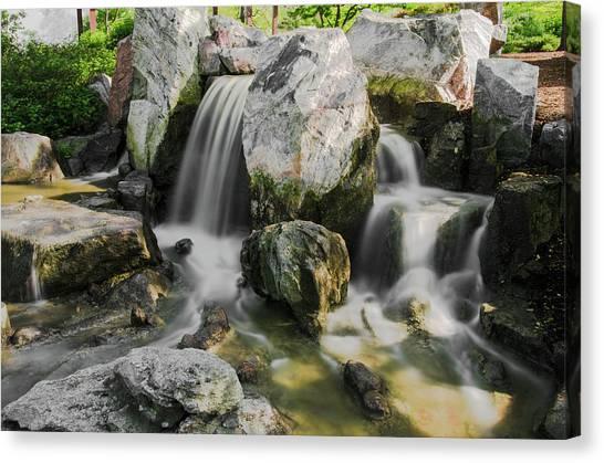 Osaka Garden Waterfall Canvas Print