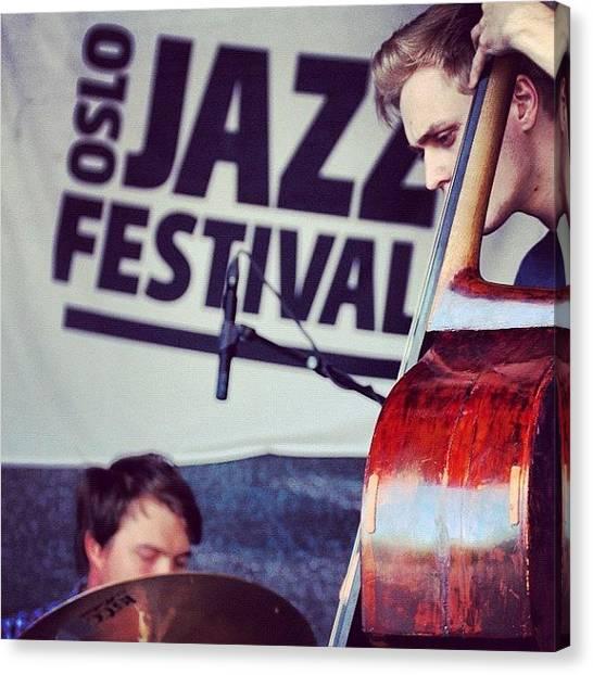Jazz Canvas Print - #oslo #jazz #festival #norway #playing by Kiko Bustamante