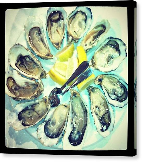 Oysters Canvas Print - Ostras!!! by Vicente Marti