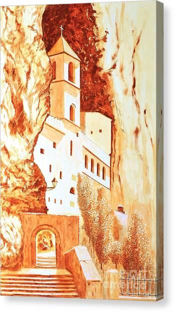 Ostrog Abbey. Montenegro. Canvas Print by Sasa Djerkovic