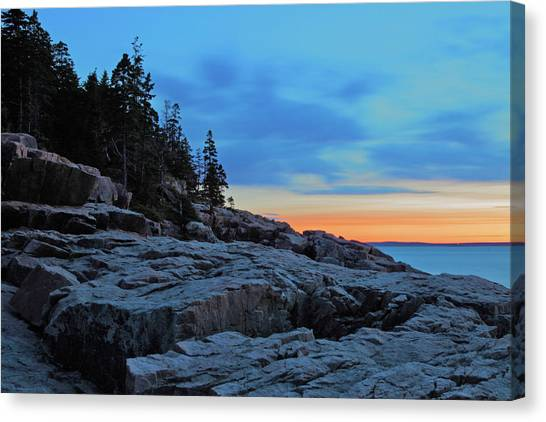 Otters Canvas Print - Otter Point At Dawn by Rick Berk