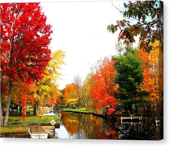 Our Canal Canvas Print