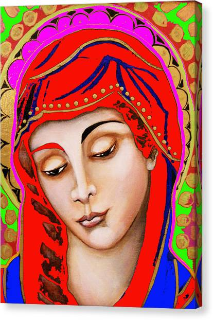 Our Lady Of Sorrows Canvas Print by Christina Miller