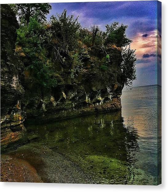 Beach Cliffs Canvas Print - Our Spot by Matthew Barker