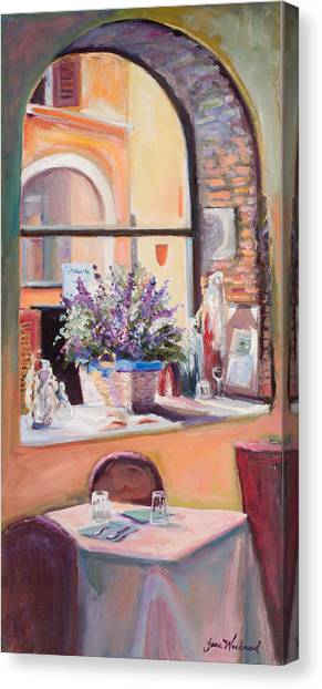 Canvas Print - Our Table By The Window by Jane Woodward