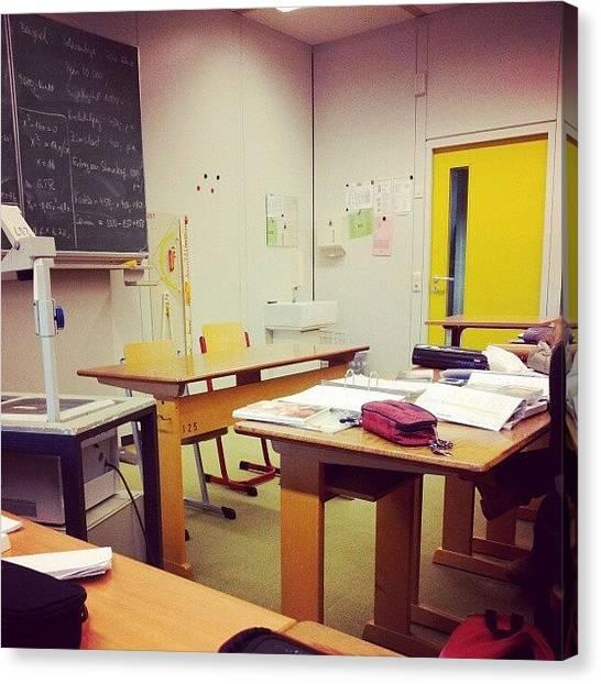 Teachers Canvas Print - Our Teacher Left The Room With Half Of by Leo Nie