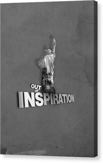 Out Of Inspiration Canvas Print by Daniel Stephen Gallery