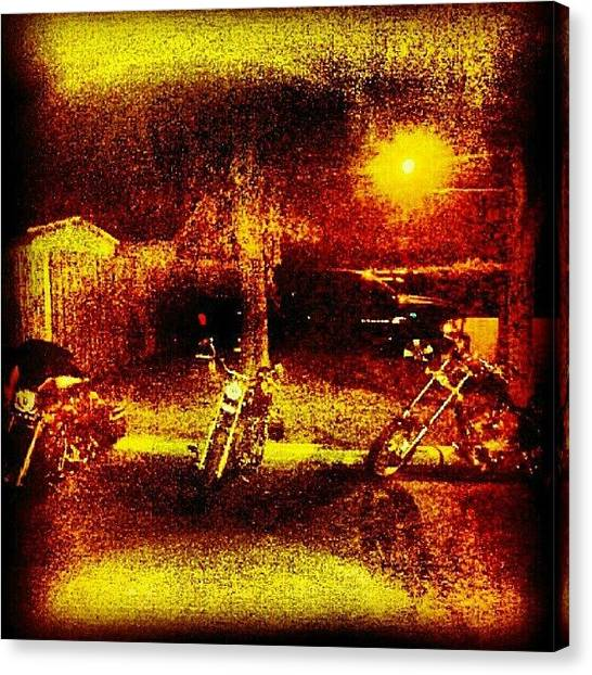 Biker Canvas Print - Out Of Like A Dozen Pics That Straight by Blazing Imagery