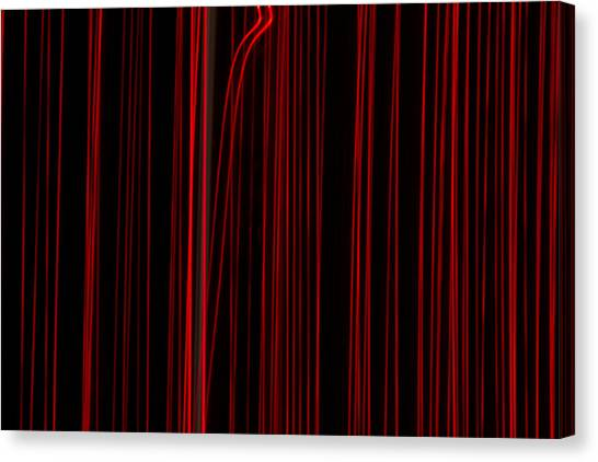 Out Of Line Canvas Print by Dean Bennett