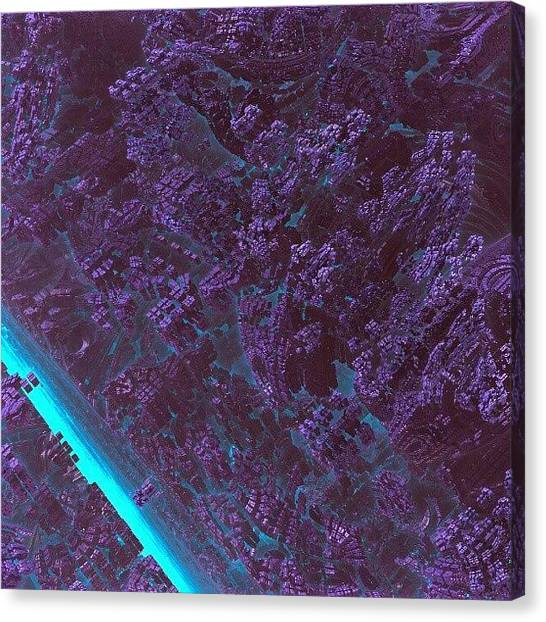 Scifi Canvas Print - Out Of The #blue #fractalart #fractal by Jacob Bettany