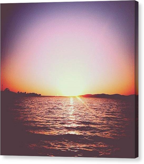 Lake Sunsets Canvas Print - #outdoors #love #beauty #fun #summer by Allison Faulkner