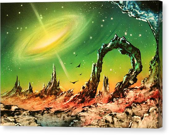 Outer Eye Galaxy Canvas Print by Tony Vegas