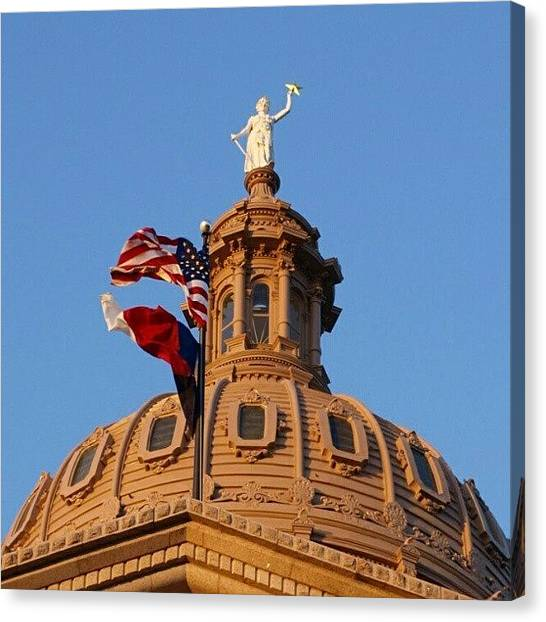 Austin Canvas Print - Outside The Dome by James Granberry