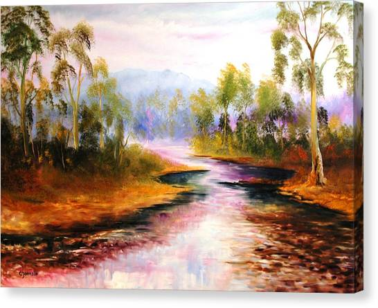 Oven's River Myrtleford Canvas Print