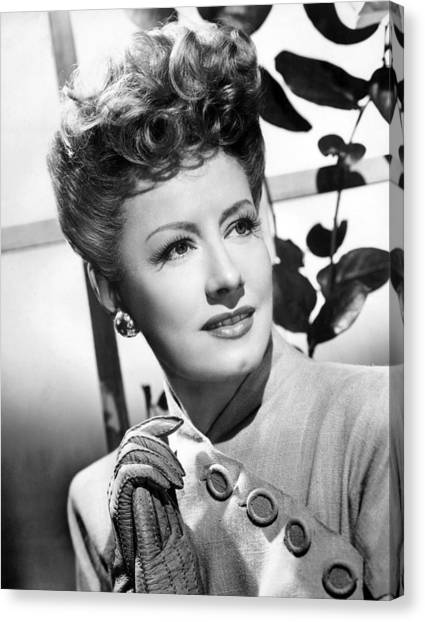 1945 Movies Canvas Print - Over 21, Irene Dunne, 1945 by Everett