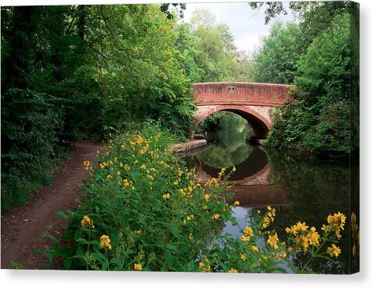 Over The Canal Canvas Print by Shirley Mitchell