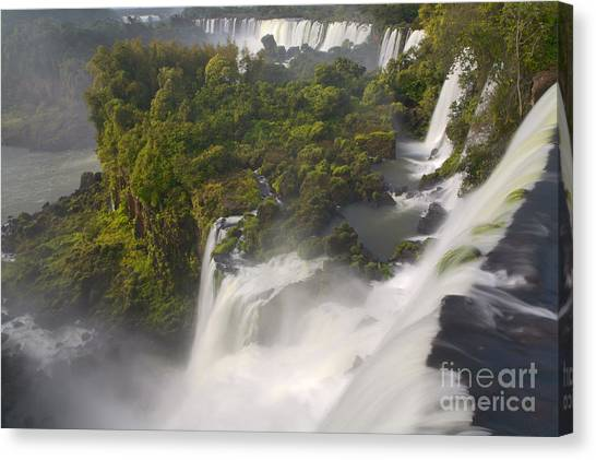 Iguazu Falls Canvas Print - Over The Edge II by Keith Kapple