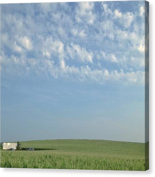 Farmhouse Canvas Print - Over The Hill by Chris Tolliver