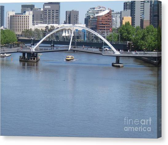 Over The Yarra Canvas Print by Donna Cavender