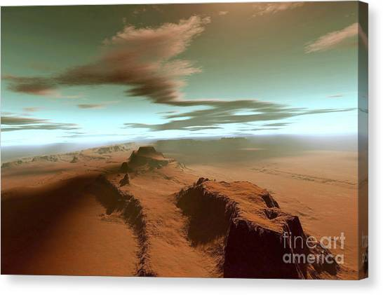 Aerial View Canvas Print - Overhead View Of A Vast Desert by Corey Ford