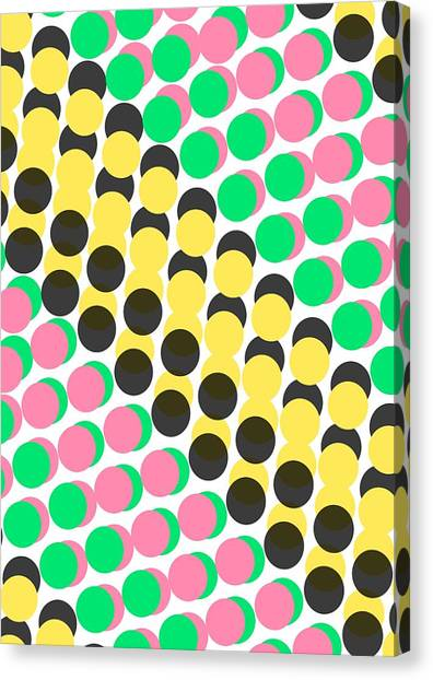 Repeat Canvas Print - Overlayed Dots by Louisa Knight