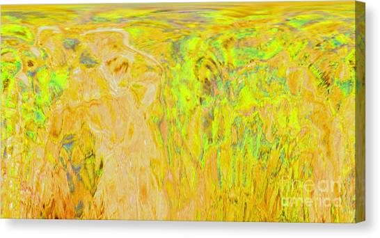 Overlooking The Valley Canvas Print