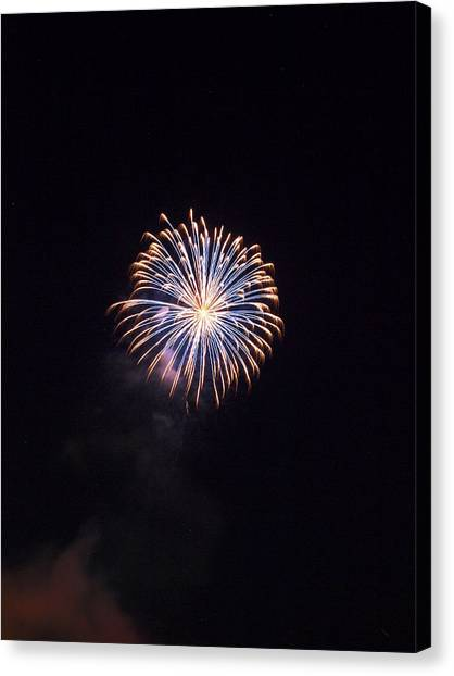 University Of Mississippi Ole Miss Canvas Print - Oxford Fireworks by Joshua House