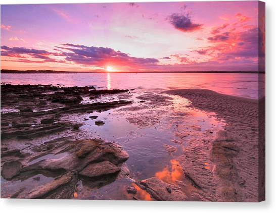 Oyster Cove Sunset Canvas Print