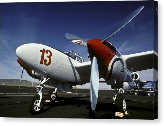 P-38 Lightning Lucky 13 Canvas Print