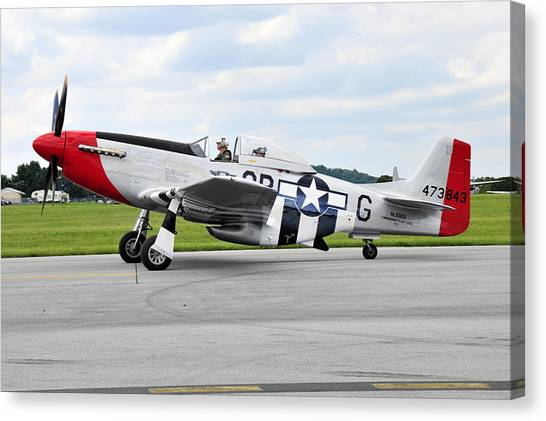 P-51d Mustang Canvas Print by Dan Myers