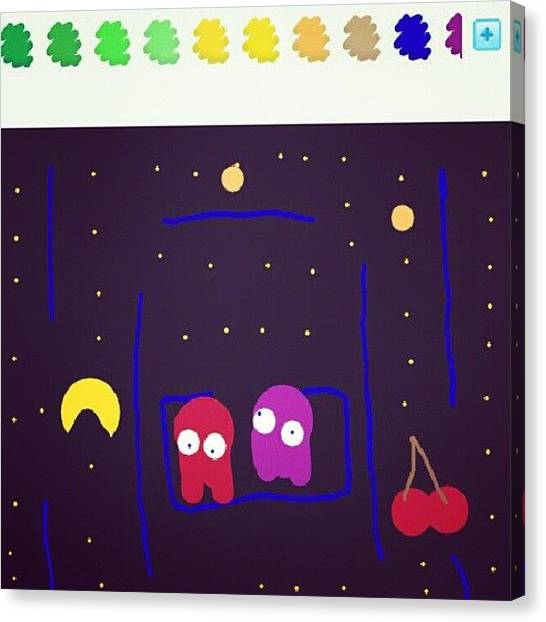 Video Games Canvas Print - Pac-man On Draw Something. #awesome by Mohsen Khan   Alexander Pathan Yusufzai
