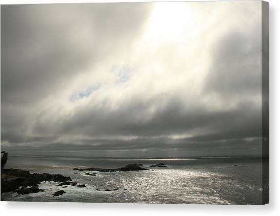 Pacific Ocean At Point Lobos California Canvas Print by Suzanne Lorenz