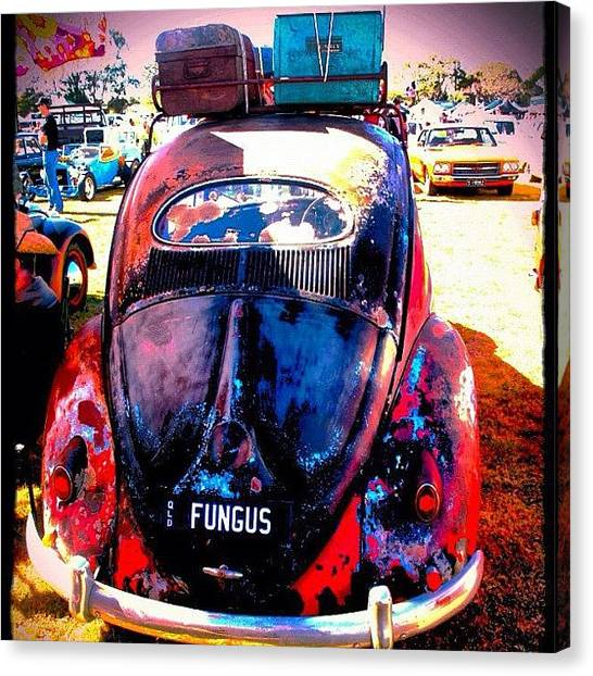 Volkswagen Canvas Print - Packed & Ready To Go by Avril O