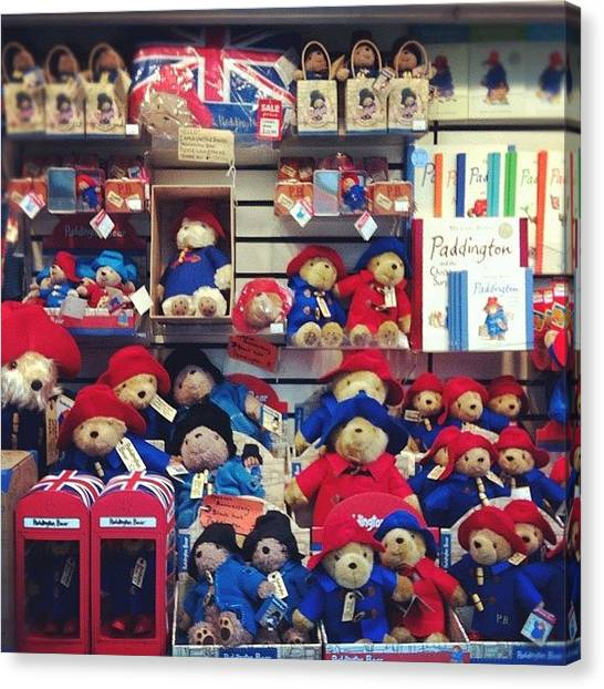 Teddy Bears Canvas Print - Paddington Bear Stand @ Paddington by Marce HH