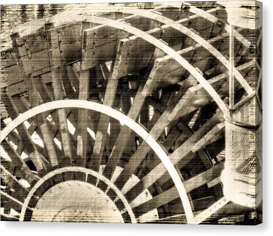 Paddle Wheeler-vintage Canvas Print by Barry Jones