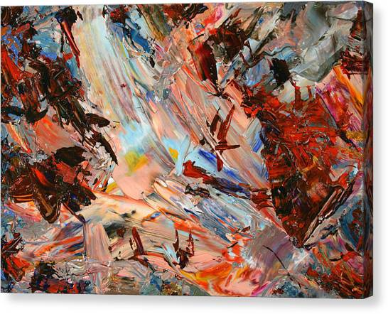 Abstract Expressionism Canvas Print - Paint Number 36 by James W Johnson