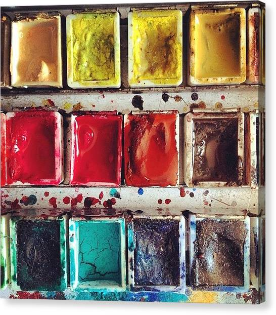 Watercolor Canvas Print - Paintbox by Nic Squirrell