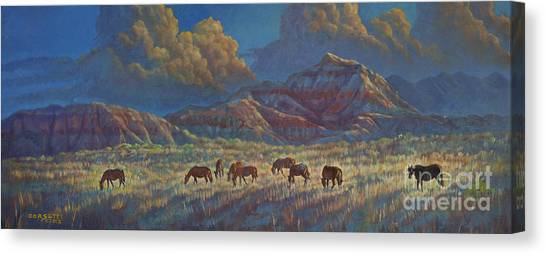 Painted Desert Painted Horses Canvas Print