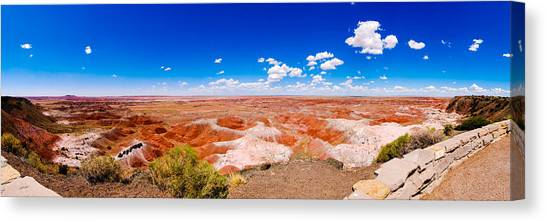 Painted Desert Panorama Canvas Print by David Waldo
