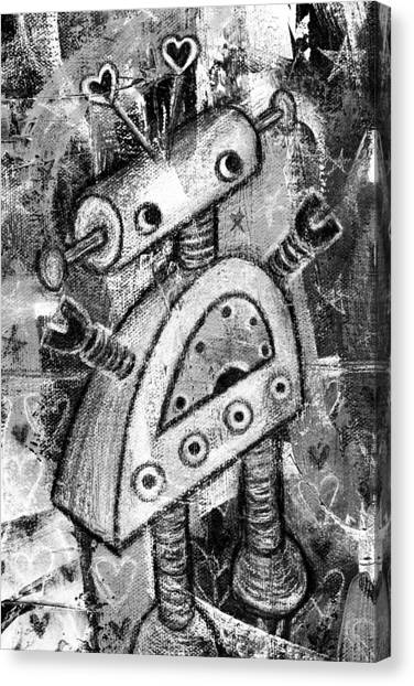 Painted Robot 2 Of 6 Canvas Print