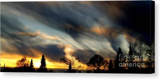 Painted Sky Over Denmark Canvas Print