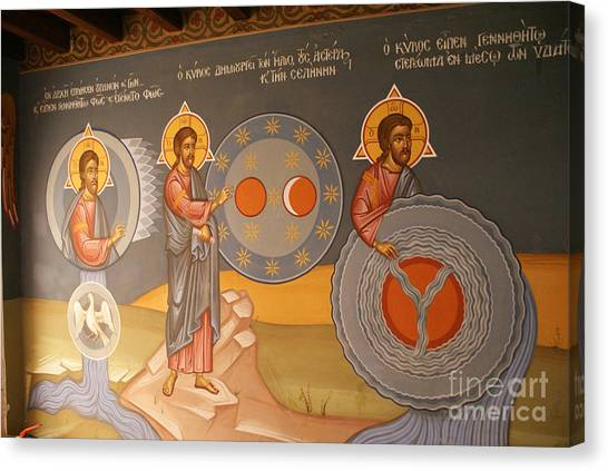 Painting In Kykkos Monastery Canvas Print by Boris Suntsov