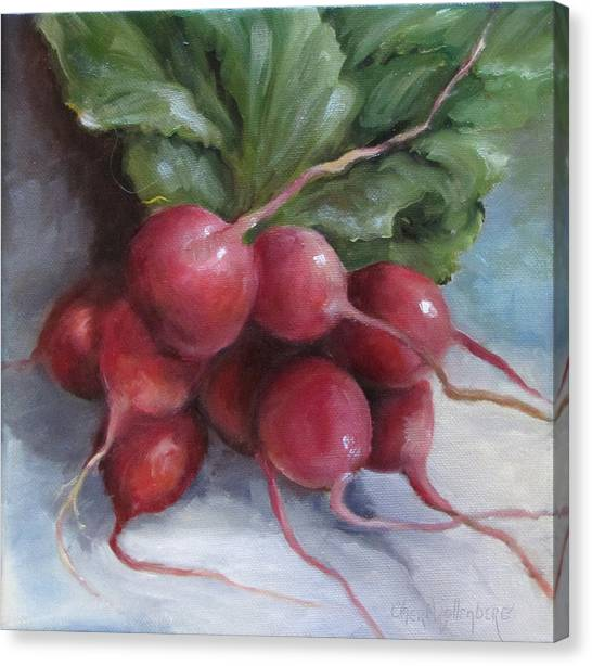 Painting Of Radishes Canvas Print