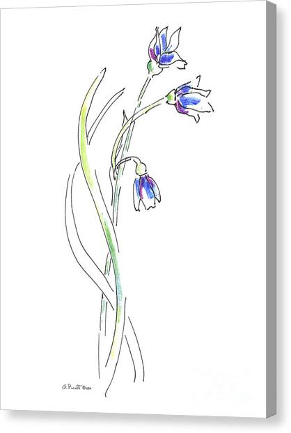 Modern Flower Canvas Print - Paintings Of Flowers 3 by Gordon Punt