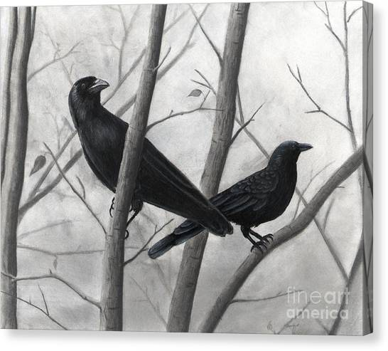 Pair Of Crows Canvas Print