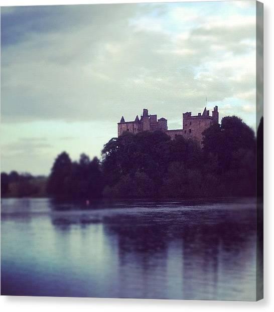 Swans Canvas Print - #palace #castle #linlithgow #loch by Grace Shine