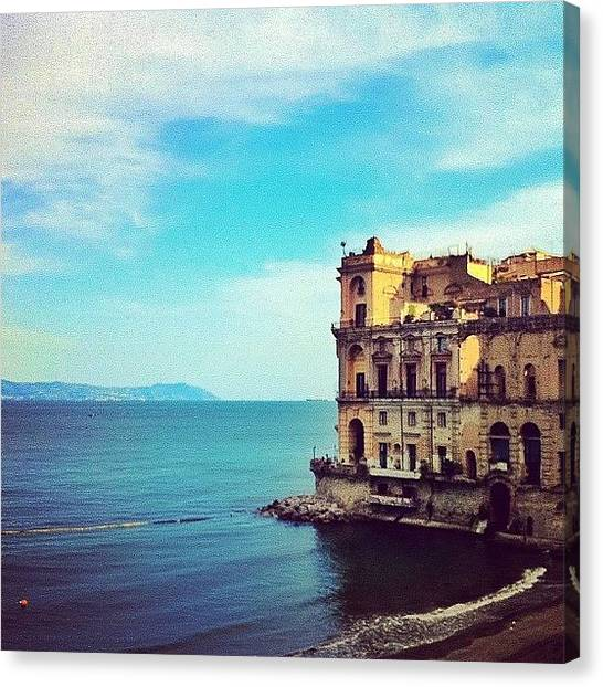 Canvas Print - Palazzo Donn'anna - Napoli Italia by Gianluca Sommella